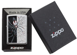 Genuine Zippo Spider Windproof Refillable Lighter - Best Bongs And More