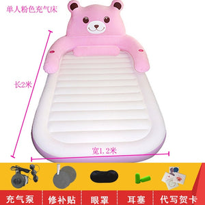 Air mattress thickened household folding double cartoon inflatable totoro bed simple air cushion bed single air cushion