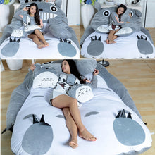 Load image into Gallery viewer, Folding Lazy Sofa Bed Adult Velvet Soft Super Warm Cartoon Cute Thicken Bed For Girls Child Beds With Pillow Bedroom Furniture