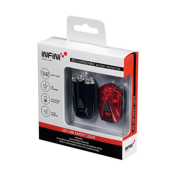 Infini Lava Front and Rear Light Twin Pack