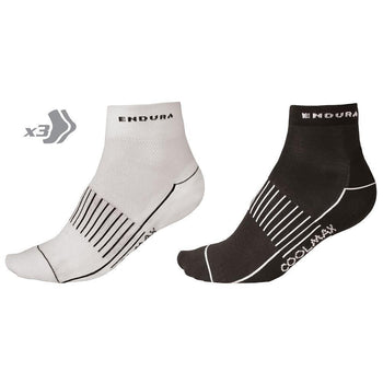 Endura CoolMax Race II Socks 3-Pack - Sprockets Cycles