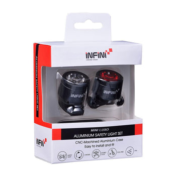Infini Mini-Luxo rechargeable USB lightset - Sprockets Cycles