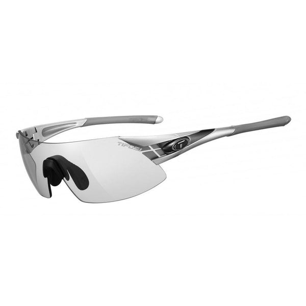 Tifosi Optics Podium XC Sunglasses with Light Night Fototec Lens - Silver/Gunmetal - Sprockets Cycles
