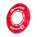 Rotor Q130 53/39 TT Aero Chainrings - Red - Sprockets Cycles