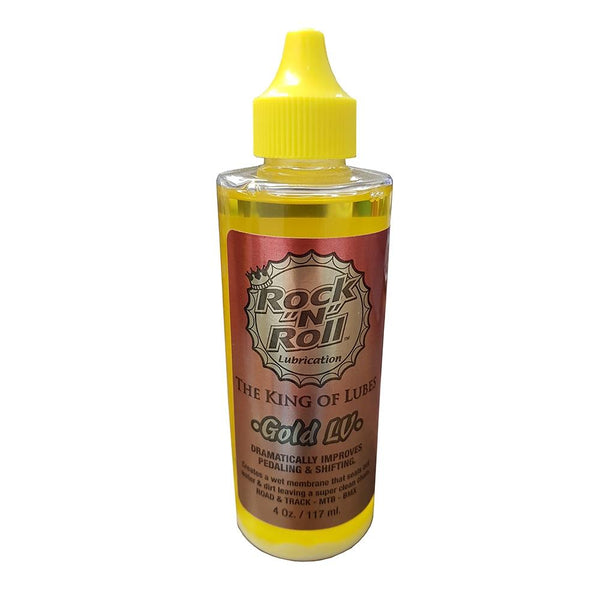 Rock N Roll Gold Low Vapour Lube 4oz - Sprockets Cycles