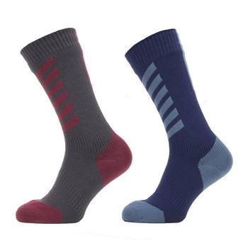 Sealskinz Waterproof Cold Weather Mid Socks with Hydrostop - Sprockets Cycles