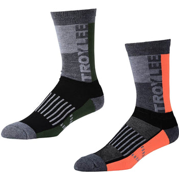 Troy Lee Designs Block Performance Crew Socks - Sprockets Cycles