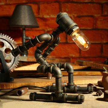 Lampe de Chevet Design Industriel