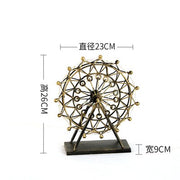 Nordic Iron Ferris Wheel Ornaments Rotating Table Lamp Creative Crafts Bedside Lamp Living Room Bedroom Home Decorations