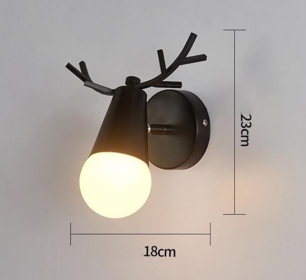 Lampe de Chevet Scandinave Applique Cerf