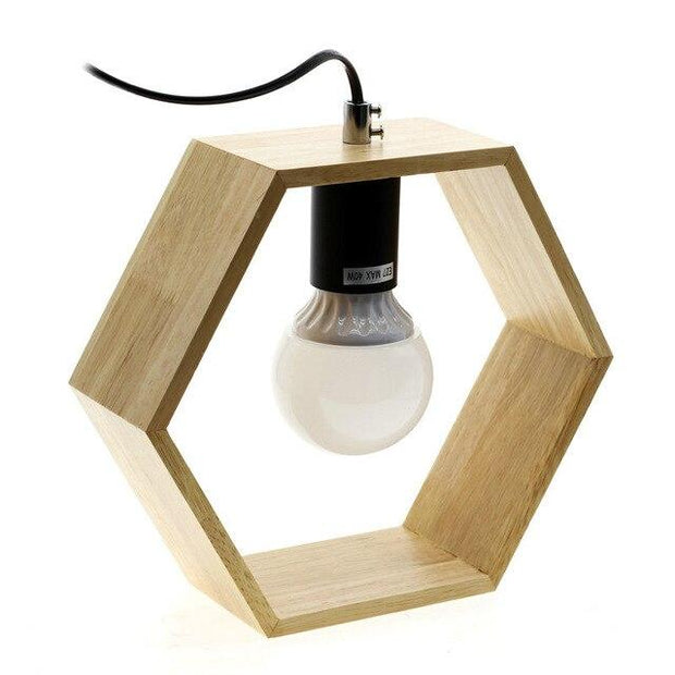 Lampe de Chevet Bois Hexagon | LumiDreams