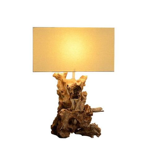 Lampe de Chevet Design Sculpture Bois | LumiDreams