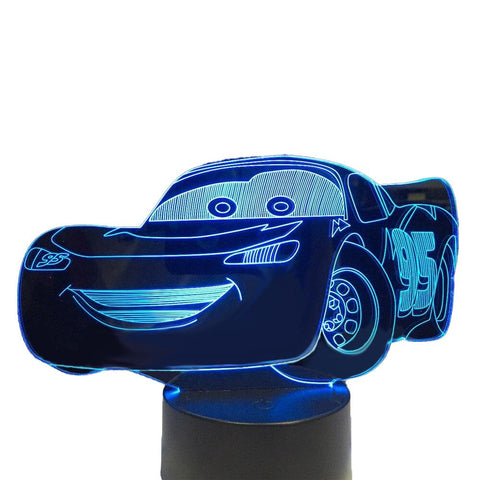 Lampe de Chevet Enfant Cars | LumiDreams