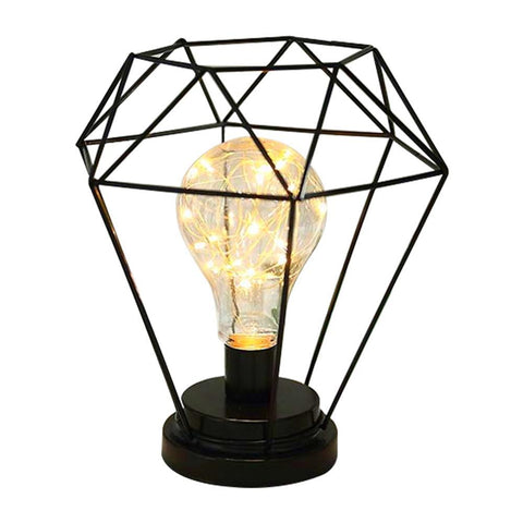 Lampe de Chevet industrielle Fil Diamant | LumiDreams