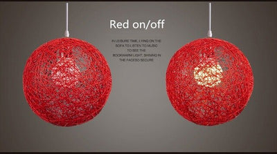 Lampe de Chevet Design Rouge