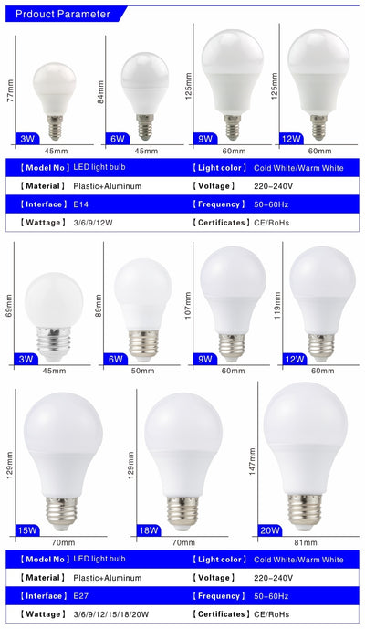 Ampoule LED E27 Blanc Froid