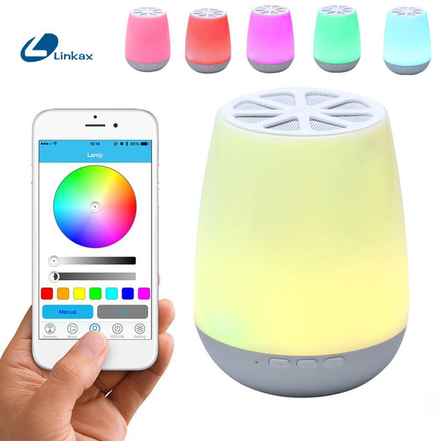 Lampe de Chevet LED sans Fil Rechargeable Multicouleurs