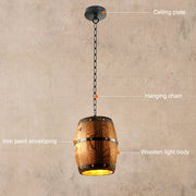 Lampe de Chevet Industrielle Baril