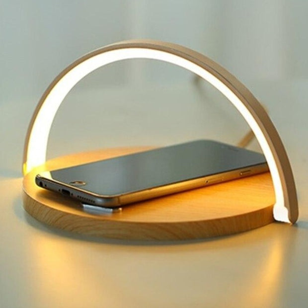 Lampe de Chevet Design avec Recharge à Induction