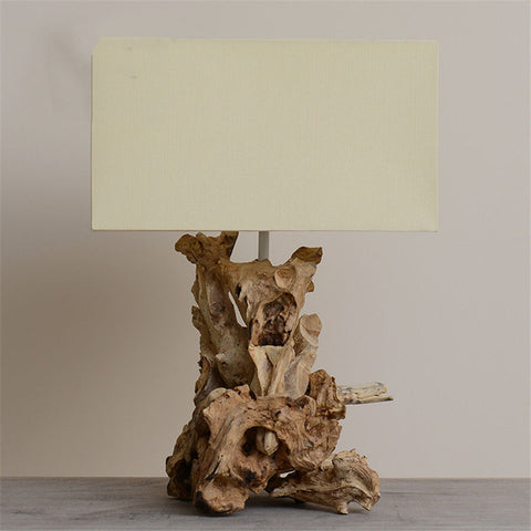 Lampe de Chevet Design Sculpture Bois