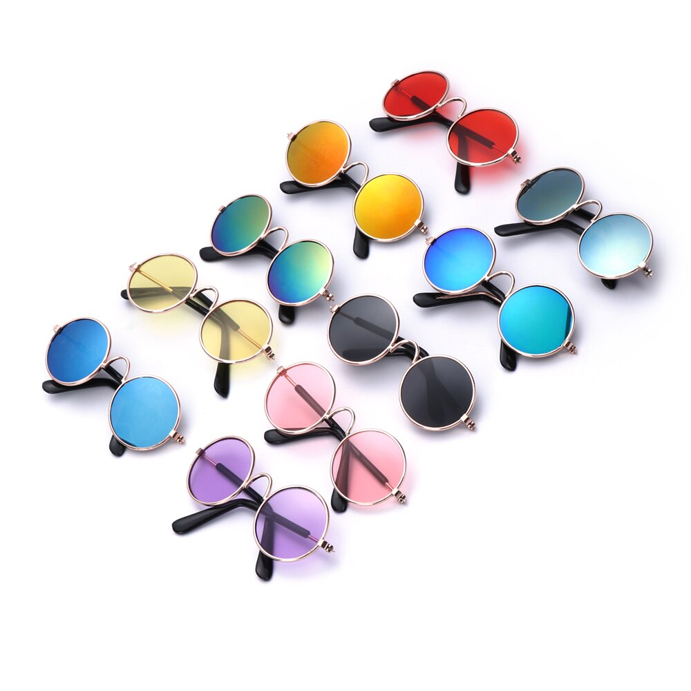 1Pc Cute Colorful Pet Cat Dog Glasses Pet Products For Little Dog Cat Eye-Wear Protection Dog Sunglasses Photos Pet Accessoires