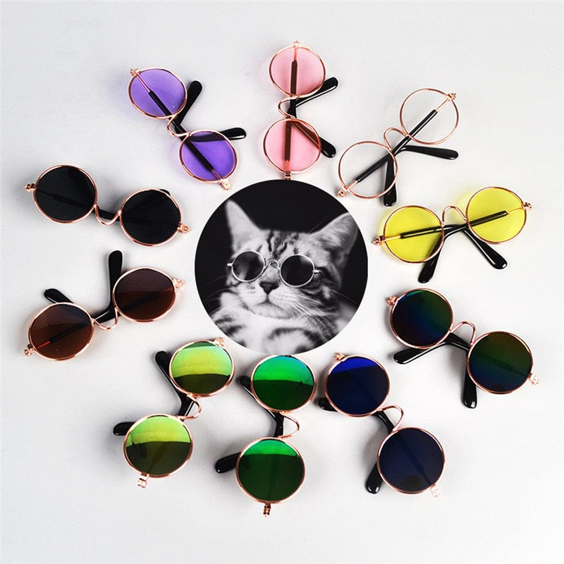 1PC Lovely Pet Cat Glasses Dog Glasses Pet Products for Little Dog Cat Eye-wear Dog Sunglasses Photos Pet Accessoires