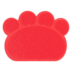 30cm * 40cm pet dog puppy cat feeding mat pad Cute paw PVC bed plate bowl food water tablecloth clean