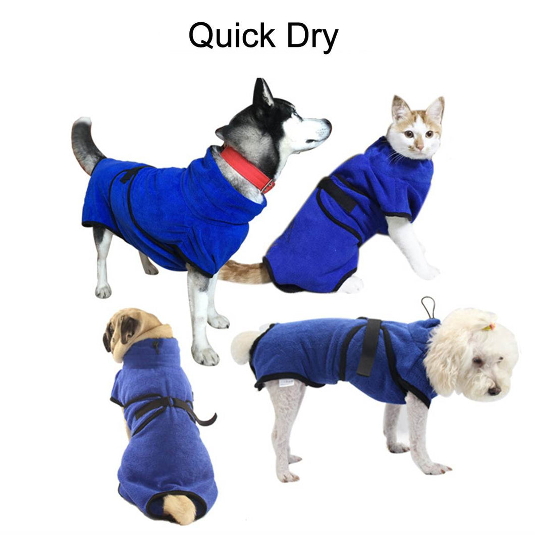 Quick Dry Pet Towel Bathrobe XS-XL Super Absorbent Dog Bathrobe Microfiber Fiber Towel Cat Bath Towel Dog Bath Warm Cloth Towel