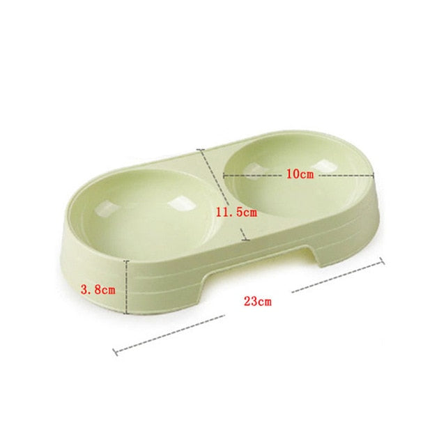 Double Pet Bowls Dog Food Water Feeder Stainless Steel Pet Drinking Dish Feeder Cat Puppy Feeding Supplies Small Dog Accessories