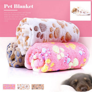 Floral Coral fleece Cat Paw Claw Dog Towel Pet Cat Towel Rug Warm Towel Blanket Sleeping Towel  Pet mat perro #4AU20