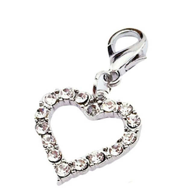 Fashion Popular Heart Shaped Puppy Rhinestone Pendant Lovely Pet Jewelry mascotas accesorios para perros dogs accessoires NEW