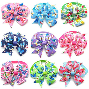 30/50 Pcs New Spring Pet Grooming Accessories Colorful Puppy Dog Bow Tie Adjustable Dog Collar Dog Accessoires Dog Bow Ties