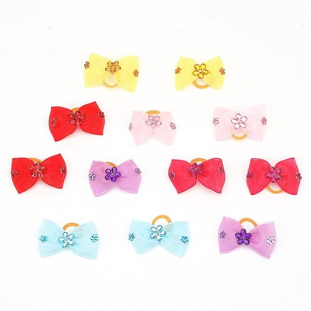 PipiFren Small Dogs Bows Hair For Pets Accessories Supplies Clips Yorkshire Grooming Bows accessoire pour chien petite taille