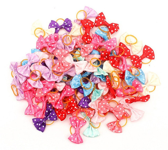 Small Dogs Accessories Bows Hair Yorkshire terrier Grooming For Pets Supplies Grooming Hair Clips Table Bows Cats accessoires