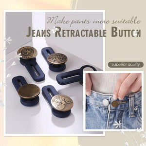 Jeans Retractable Button