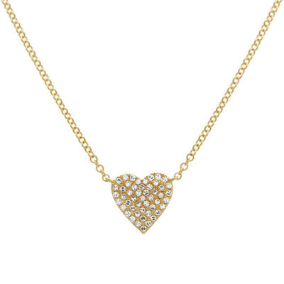 Diamond Heart Necklace 14K - Kury Jewelry