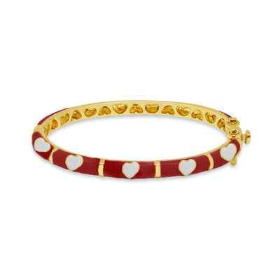 Red Hearts Bangle by Kury - Available at SHOPKURY.COM. Free Shipping on orders over $200. Trusted jewelers since 1965, from San Juan, Puerto Rico.