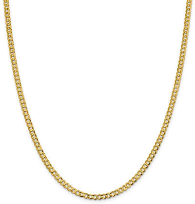 3.5mm Flat Cuban Chain 14K by Kury - Available at SHOPKURY.COM. Free Shipping on orders over $200. Trusted jewelers since 1965, from San Juan, Puerto Rico.