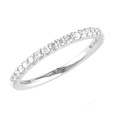17ct. Diamond Half Eternity White 14K Ring by Kury Bridal - Available at SHOPKURY.COM. Free Shipping on orders over $200. Trusted jewelers since 1965, from San Juan, Puerto Rico.