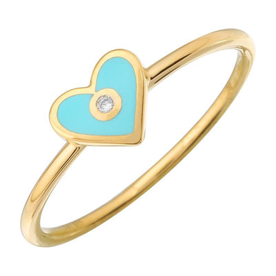 Turquoise Heart Diamond Ring by Kury - Available at SHOPKURY.COM. Free Shipping on orders over $200. Trusted jewelers since 1965, from San Juan, Puerto Rico.