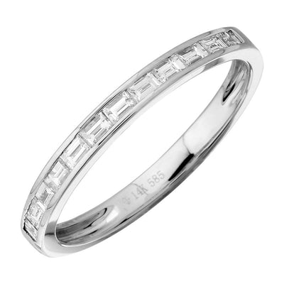 .29ct Baguette Diamond Ring 14K by Kury Bridal - Available at SHOPKURY.COM. Free Shipping on orders over $200. Trusted jewelers since 1965, from San Juan, Puerto Rico.