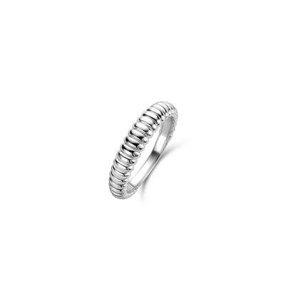 Skinny Silver Ribbed Ring by Ti Sento - Available at SHOPKURY.COM. Free Shipping on orders over $200. Trusted jewelers since 1965, from San Juan, Puerto Rico.