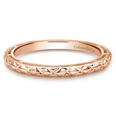 14K Rose Gold Geometric Ring by Gabriel & Co. - Available at SHOPKURY.COM. Free Shipping on orders over $200. Trusted jewelers since 1965, from San Juan, Puerto Rico.