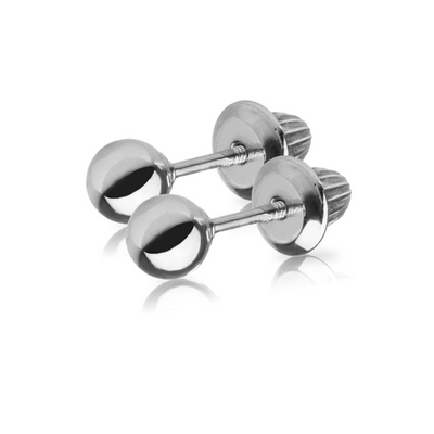 Silver Ball Stud Earrings by Kury - Available at SHOPKURY.COM. Free Shipping on orders over $200. Trusted jewelers since 1965, from San Juan, Puerto Rico.