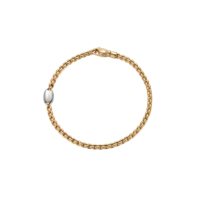 Yellow Gold Bracelet with Clasp - SHOPKURY.COM