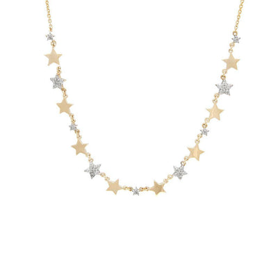 Multi Star Diamond 14K Necklace by Kury - Available at SHOPKURY.COM. Free Shipping on orders over $200. Trusted jewelers since 1965, from San Juan, Puerto Rico.
