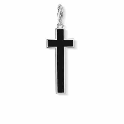 Onyx Cross Charm by THOMAS SABO - Available at SHOPKURY.COM. Free Shipping on orders over $200. Trusted jewelers since 1965, from San Juan, Puerto Rico.