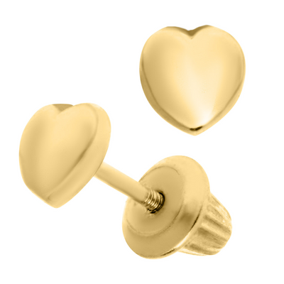 Full Heart Stud Earrings 14K by Kury - Available at SHOPKURY.COM. Free Shipping on orders over $200. Trusted jewelers since 1965, from San Juan, Puerto Rico.