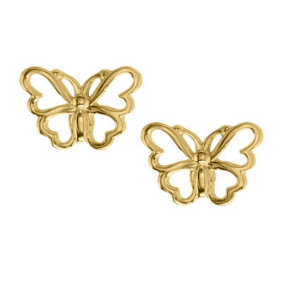 Open Butterfly Stud Earrings by Kury - Available at SHOPKURY.COM. Free Shipping on orders over $200. Trusted jewelers since 1965, from San Juan, Puerto Rico.