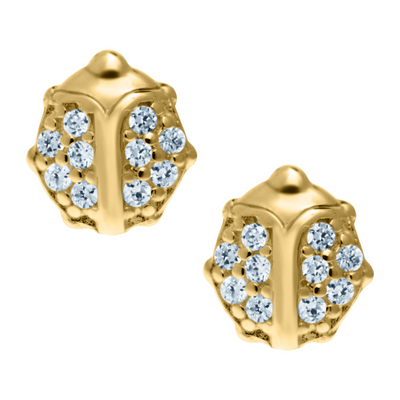Lady Bug Stud Earrings 14K by Kury - Available at SHOPKURY.COM. Free Shipping on orders over $200. Trusted jewelers since 1965, from San Juan, Puerto Rico.
